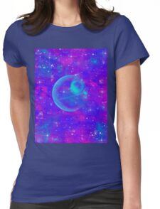 Neon Space Womens Fitted T-Shirt