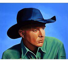 Garth Brooks painting Photographic Print