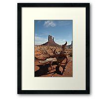 Monumental views Framed Print