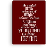In a Land of Myth... Merlin (white) Canvas Print