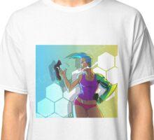 Cyborg Lady With Gun Classic T-Shirt