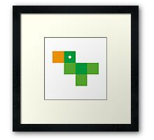 Pixel by pixel – Parrot Framed Print