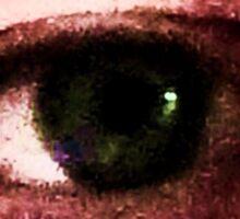 squealshuft eye Sticker