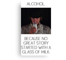 ALCOHOL vs MILK Canvas Print