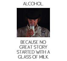 ALCOHOL vs MILK Photographic Print