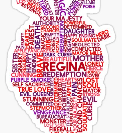 """Regina """"Evil Queen"""" Mills Typography Once Upon A Time Sticker"""