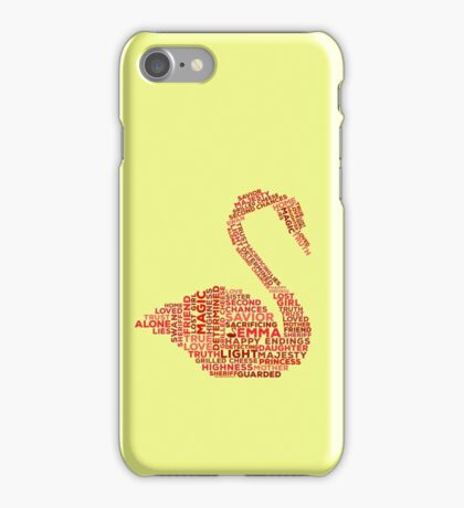 Emma Swan Typography Once Upon A Time iPhone Case/Skin