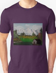 "Mystery Mountain-Oil on canvas-14""H by 18""W T-Shirt"