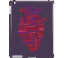 "Regina ""Evil Queen"" Mills Typography Once Upon A Time iPad Case/Skin"