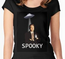 Agent Spooky Mulder Women's Fitted Scoop T-Shirt
