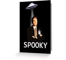 Agent Spooky Mulder Greeting Card