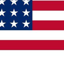 American flag Pennsylvania outline Sticker