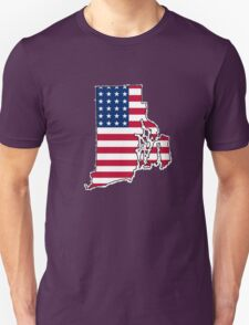 American flag Rhode Island outline T-Shirt