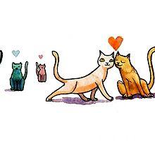 Cats n Hearts by Dan Paul  Roberts