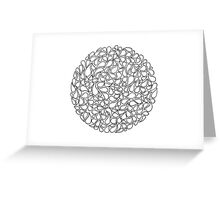 Circular Water Blobs Greeting Card