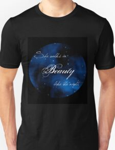 """""""She Walks in Beauty"""" Lord Byron Quote T-Shirt"""