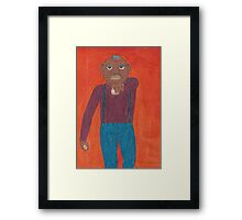 Angry Old Man Framed Print