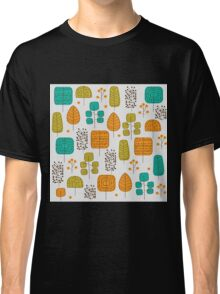 Trees doodle pattern Classic T-Shirt