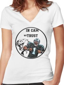 Cam Newton Women's Fitted V-Neck T-Shirt