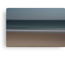 Seascape, line in the sand. Canvas Print
