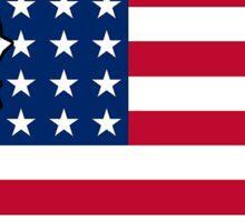 American flag Washington outline Sticker