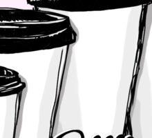 Size Matters - The Barista's Coffee Art Sticker