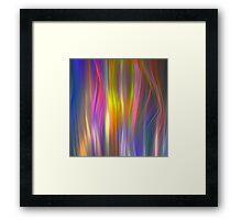 Colour streams Framed Print