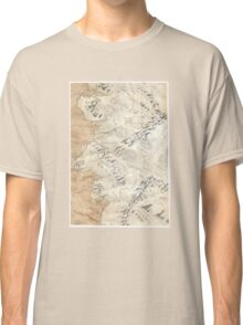 Lord Of The Rings Map - Hand Drawn * Notebooks and Journals added * Classic T-Shirt