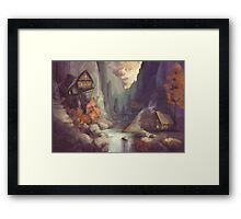 Canyon at Dusk Framed Print