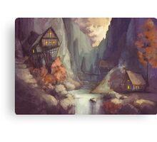 Canyon at Dusk Canvas Print