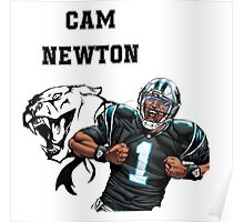 Cam Newton Panthers Poster