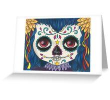 Sugar Skull Girl Greeting Card