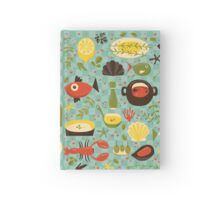 Seafood lover pattern Hardcover Journal