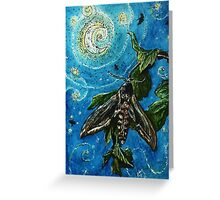 Moth Magic in the Moonlight  Greeting Card
