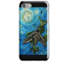 Moth Magic in the Moonlight  iPhone Case/Skin