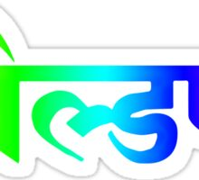 "Coldplay 'Hindi logo' from ""A Head Full Of Dreams"" album artwork.  Sticker"