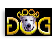 GOOD DOG (Double Word Mirror Image Ambigram) Canvas Print