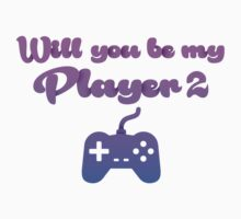 Will you be my player 2 - version 2 - blue by Supreto