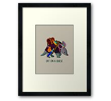 Off on a Quest Framed Print