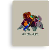 Off on a Quest Canvas Print