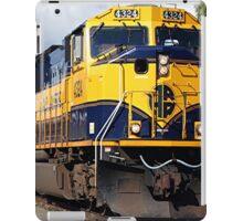 Alaska Railroad train engine iPad Case/Skin