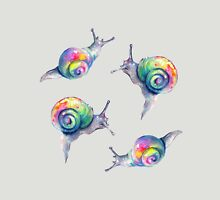 Rainbow Snails Hand-Painted Pattern T-Shirt