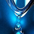 Glowing Blue Abstract by Phil Perkins
