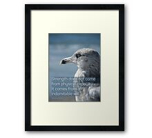 indomitable will seagull Framed Print