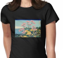 'The Fuji From Gotenyama' by Katsushika Hokusai (Reproduction) Womens Fitted T-Shirt