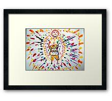 God of colors Framed Print
