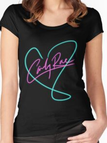 Carly Rae Jepsen - Heart Print Women's Fitted Scoop T-Shirt