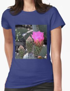 Pink Flame Womens Fitted T-Shirt