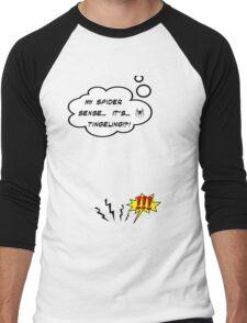 DAMN THIS SPIDER SENSE!?!!.. Men's Baseball ¾ T-Shirt