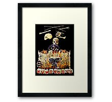 Here are the monster's little toys. Once they were little girls and boys. Framed Print